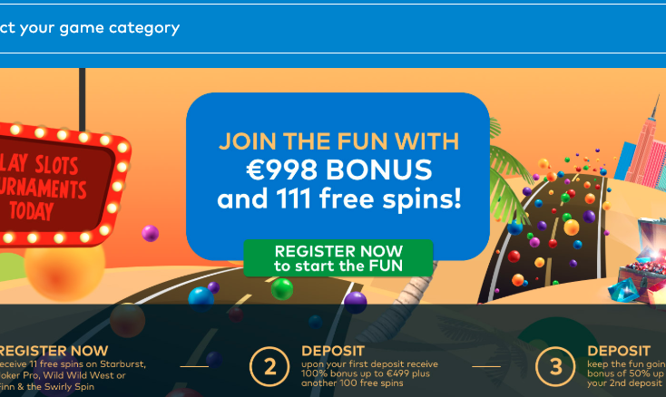 fun casino welcome promotion free spins no deposit uk